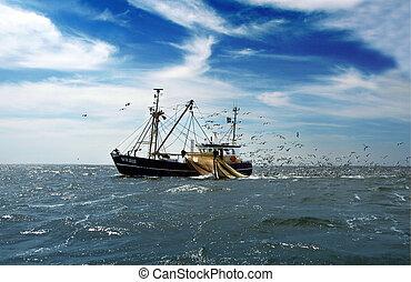 Fishing vessel in Netherland