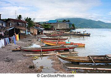 A fishing village along Laguna lake, Los Banos