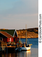 Fishing village - Environmental image of a fishing village...