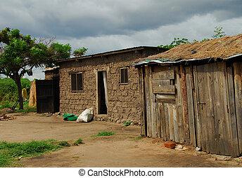 Africa - fishing village in Africa,Tanzania