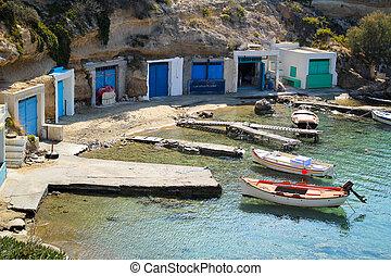 Fishing village in Greece