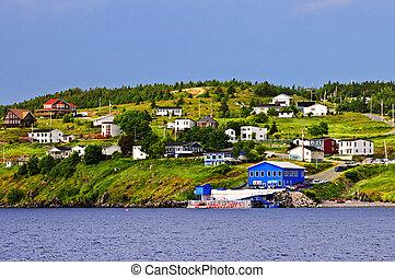 Fishing village in Newfoundland - Quaint seaside fishing...