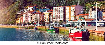 Fishing village of Asturias, Spain.