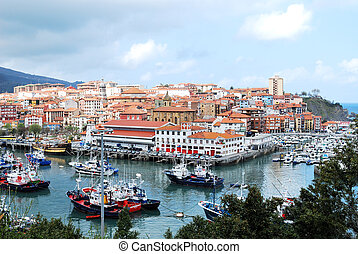 Bermeo, Basque Country, Spain - Fishing Village of Bermeo,...
