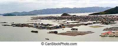 Fishing village on the sea