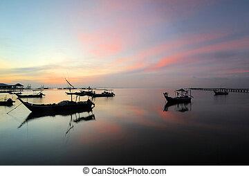 fishing village,penang - Taken during sunrise