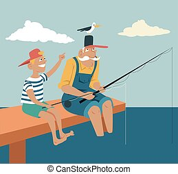 Fishing with granddad