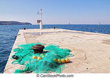 fishingnets on the pier