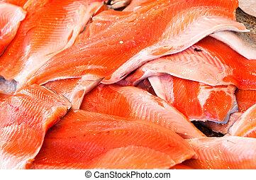 fishmarket, łosoś, filet