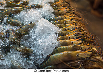 fishmarket, krewetki
