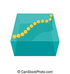 Fishnet cartoon icon