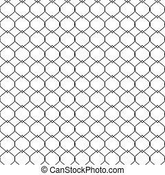fishnet, pattern., seamless, attaché, corde, vecteur, illustration, nautique