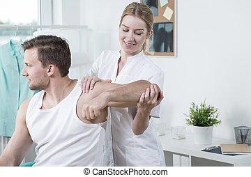 fisioterapeuta, trabajo, belleza