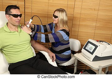 fisioterapia, laser