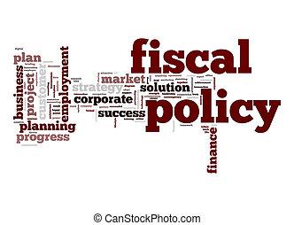 fiskal, politik, ord, moln