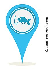 fiske, lokaliseringen, ikon
