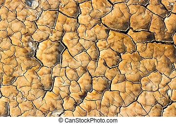 fissures, seca, ground., fraturas, chão