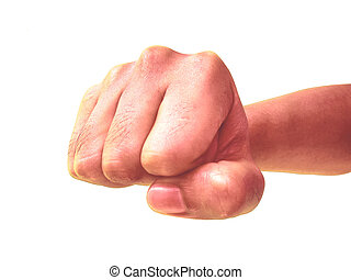 Fist, aggressive, punch, intent to hit