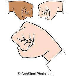 Fist Bump - An image of a fist bump handshake.