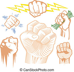 Fist Collection - Clip art collection of various fists