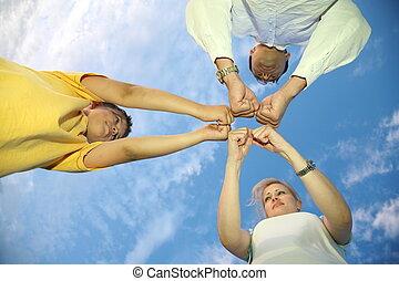 fist family sky
