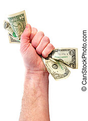 Fist Holding Dollar Bills