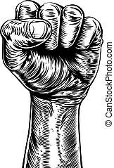 Fist Illustration - An original illustration of a a fist in...