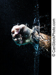 fist in water