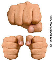 Fist isolated on a white background.