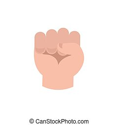 Fist isolated. punch hand on white background