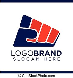 Fist of struggle Balanced Vector Logo