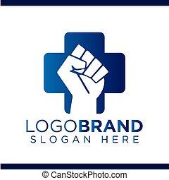 Fist of struggle Medical Vector Logo