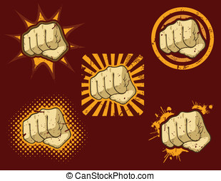 Fist O'Fury - This is a vector icon of a fist with various...