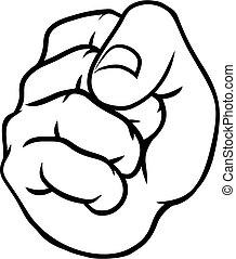 Fist Punch Hand Cartoon