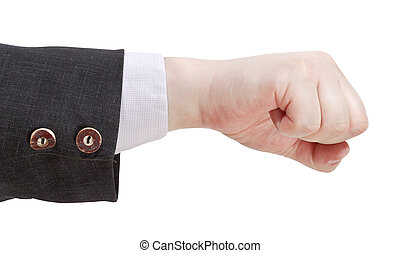 fist punch - hand gesture isolated on white background