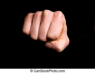fist - Close up shot of a clenched fist