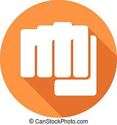 fist symbol flat icon