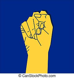 fist to revolution concept