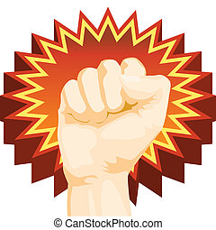 fist - fist comic book style punch icon drawing isolated on...
