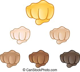 fisted, meldingsbord, hand, emoji