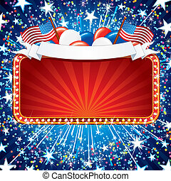 Fistive American Sign - Festive American Sign. Illustration...