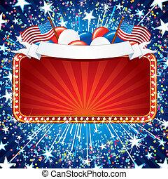 Fistive American Sign - Festive American Sign. Illustration...
