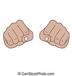 Fists - This is two fists in front view