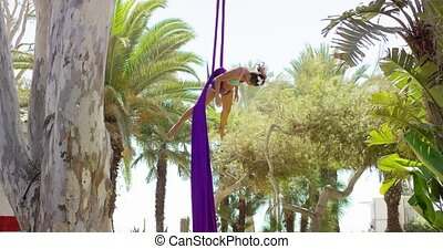 Fit acrobatic dancer giving a performance - Fit beautiful...