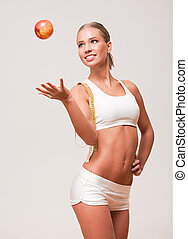 Fit and healthy. - Portrait of a fit and healthy young blond...