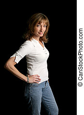 Fit At Forty - A beautiful forty year old woman with a great...