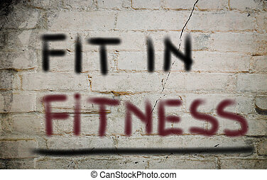 Fit In Fitness Concept