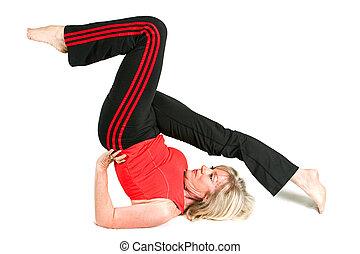 Fit Senior in Pilates Pose