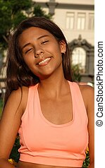 Fit Teen Girl Smiling