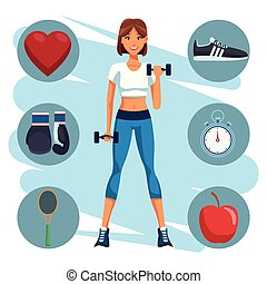 fit woman doing exercise